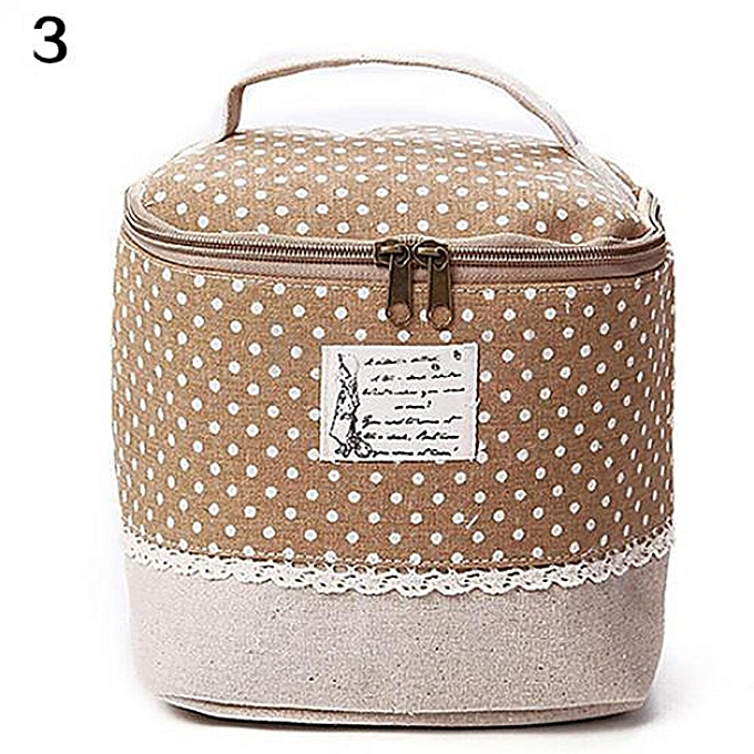 834d067134cb Multi-Function Women's Cosmetic Bag Large Capacity Floral/Dot Makeup Bag  Travel Toiletry Storage Organizer Beauty Case Lunch Box(YELLOW)