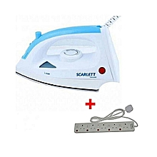 Steam Iron Box+ a FREE 5-Way Socket Extension Cable