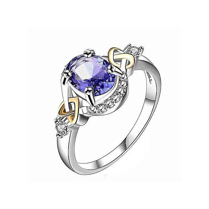 Fashion Women Wedding Engagement Ring Crystal Jewelry