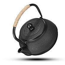 5pcs 0.8L Black Japanese Tetsubin Style Cast Iron Tea Pot Kettle Teapot Drinkware