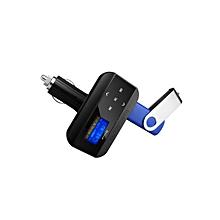 FM12 Multi-function Car FM transmitter with Remote control-black