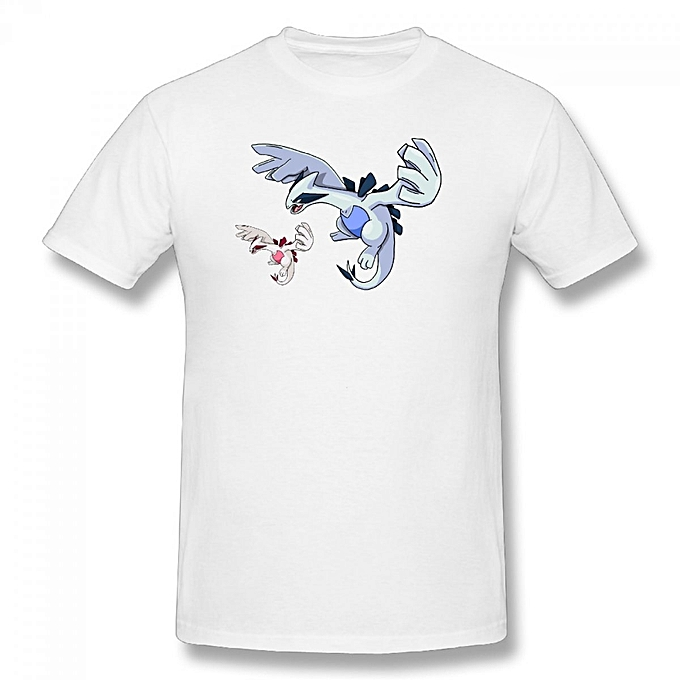 4c3218d8 Generic Lugia Art Men's Cotton Short Sleeve Print T-shirt White ...