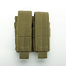 Tact*cal Double Mag Pouch Molle Quick Access Ammo Clip G*n Accessories Magazine Holder Bag For Belt Placement