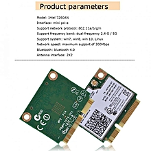 Sweatbuy Mini Intel 7260HMW 7260AN PCI-E 300M Bluetooth 4.0 Dual Band Wireless WiFi Card