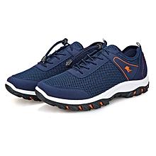 Men's Outdoor Climbing Mesh Sports Shoes-Blue