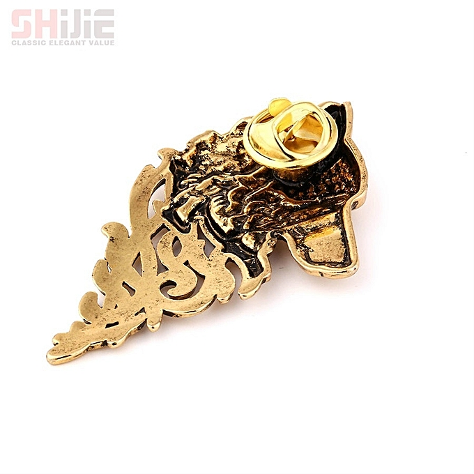 Vintage Gold Silver Brooches for Women Men Lapel Pin Wolf Collar Jewelry  Fashion Brooch Pins