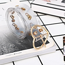 bdddf2f0ae29 Fashion Transparent Chic Women Wide Belt Pin Heart Round Shape Belt Buckle  Clear Waist