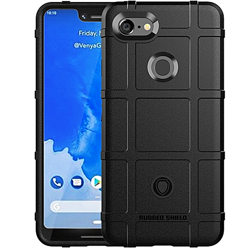 reputable site 76391 2c2e0 Google Pixel 3 XL Case,Rugged Shield Silicone Heavy Duty Armor Shock-Proof  Protective Case Cover for Google Pixel 3 XL