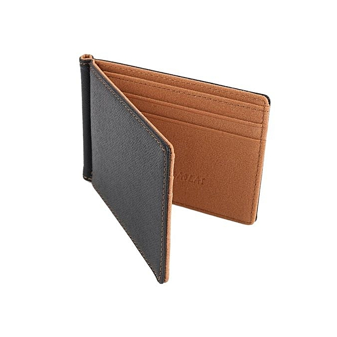 1pc Faux Leather Slim Mens Credit Card Wallet Money Clip Simple Design Edges Men Wallets (