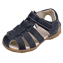 jiuhap store Children Kids Shoes Boy Girl Closed Toe Summer Beach Sandals Shoes Sneakers-Navy
