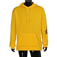 bluerdream-Men's Hoodie Sweatshirt Hooded Tops Jacket Coat Outwear Pullover Yellow/L-Yellow