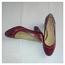Maroon Ladies Shoes Low Heel Formal