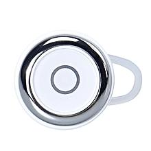For Smartphone Mini Wireless Bluetooth Earphone Handsfree Headset-White