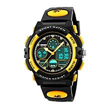 Luminous Waterproof Multifunction PU Leather Electronic Kids Watch Children\'s Outdoor Sport Wrist Watch Digital Clock