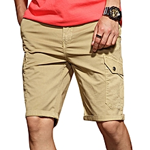 Men's Casual Comfort Cotton Slim Shorts Pants Personality Multi Pocket Solid Color Shorts