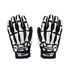 Qepae Skull Pattern Cycling Bicycle Outdoor Sports Gloves, Size: M, F7507(black)