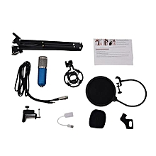 BM800 Condenser Microphone Kit Studio Suspension Boom Scissor Arm Sound Card Blue