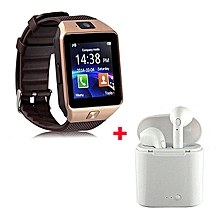 Smart Watch DZO9 Smartwatch Plus Free Wireless Earphones- Gold