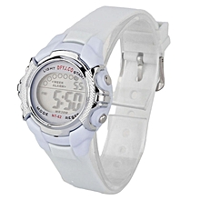 Hiamok_Fashion Children Digital LED Quartz Alarm Date Sports Wrist Watch WH
