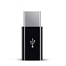 USB Female to Type C Male Adapter for Letv Xiaomi Mi 5X Oneplus Samsung S9 S8 Plus Black