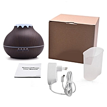 Home-400ml Air Humidifier Aromatherapy Essential Oil Diffuser with LED Lights*Dark Wood Grain