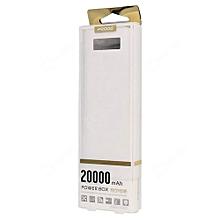 Proda Power Bank - 20,000 mAh - Digital display - White