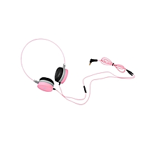 W3 Stereo Wired 3.5MM Headset Headphones - Pink