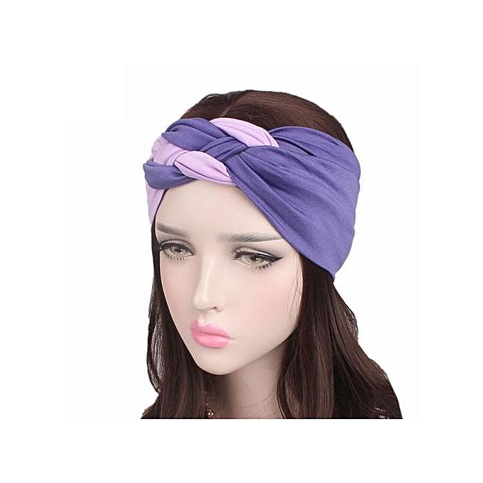 Women Ladies Boho Turban Head Warp Hair Band Sports Wide Elastic Headband 424c23d9bb4