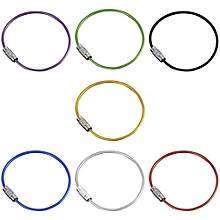 10Pcs Colorful Stainless Steel Wire Keychain Rope Key Chain Aircraft Gear Cable Ring Keyring For Outdoor Hiking