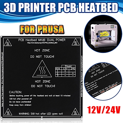 12V/24V 3D Printer Heatbed MK2B PCB Hot Plate Heat Bed For Prusa 214x214mm  NEW