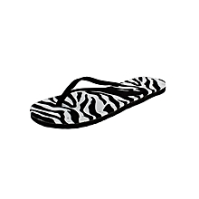 Black And White Casual Outdoor Flip Flops