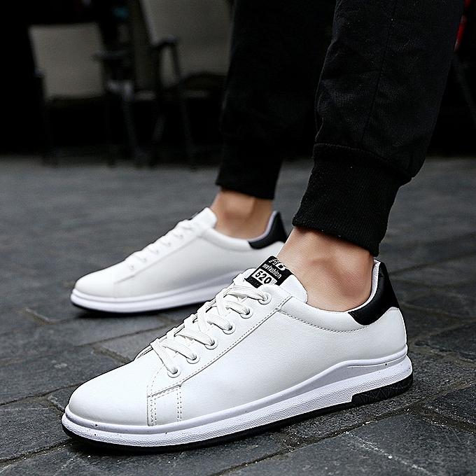 wholesale dealer feb7b 50ca8 Men Casual Shoes White Footwear Male Platform Shoes Mens Shoes Sales Thick  Bottom Flats-white