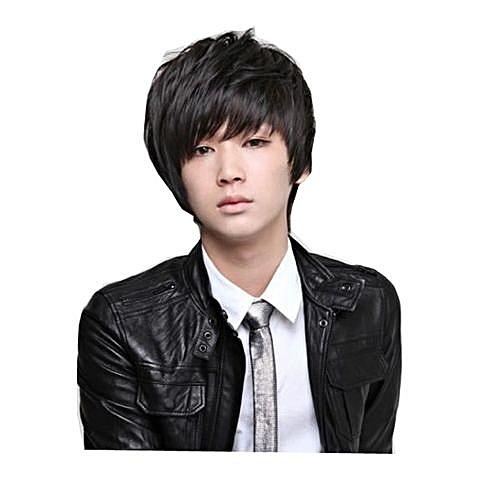 Ht Cf Men S Male Fluffy Style Hair Anime Handsome Boy S Short