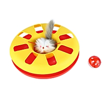 Funny Catch The Mouse Motion Cat Toy Pet Amusement Plate Interactive Toys orange