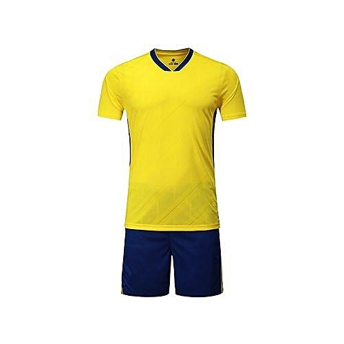 Longo 2018 Customized World Cup Football Soccer Team Sports Training Shirts  And Shorts Jersey Set-Yellow+Blue 1945179bb
