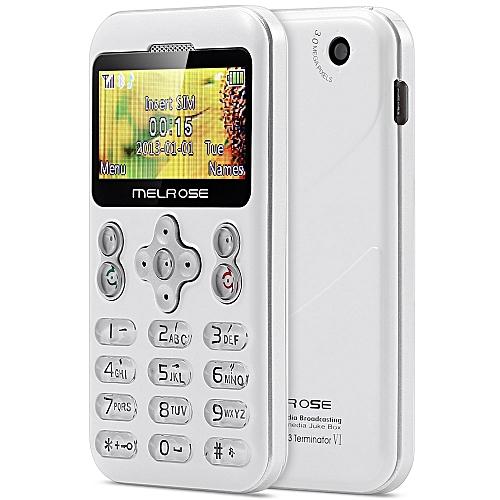 MELROSE M6 1.70 inch Pocket Card Phone Camera Bluetooth MP3 Playback FM Alarm Recorder Calender WHITE