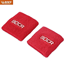 BOER Paired Elastic Wrist Guard Support Band Bracer Protector for Outdoor Basketball Tennis Sport Red