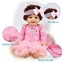 22'' Handmade Pink Reborn Newborn Baby Girl Doll Clothes Dress+ Headdress