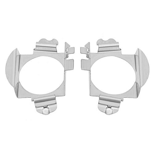 Pair of H7 LED Headlight Bulbs Adapter Retainer Holder for Mercedes - Benz  Ford Silver Headlight Bulbs Adapter
