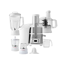 6 in 1 Juice Extractor -Silver/White