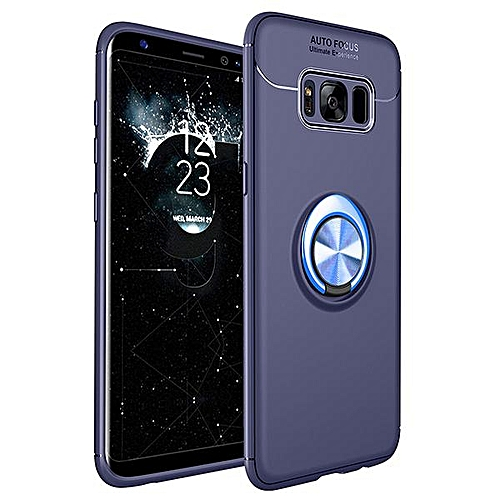 best loved 0a0c5 ab4cf For Samsung Galaxy S8 Case Car Holder Stand Magnetic Bracket Finger Ring  TPU Case For Samsung S8 Funda Capa (Blue)