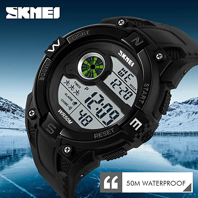 ... SKMEI Brand Men's Fashion Sport Watches LED Digital Watch Countdown Waterproof Wristwatch Man Military Clock ...