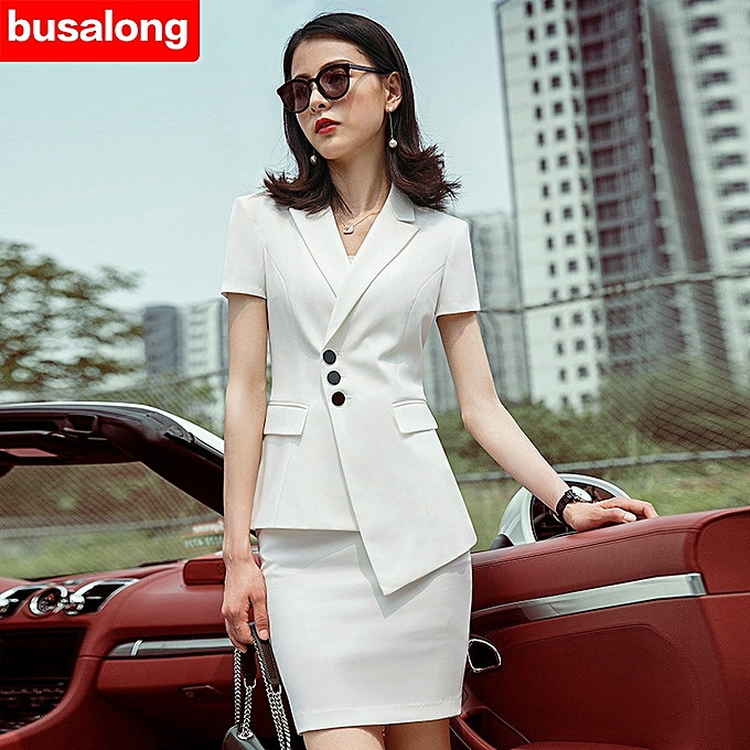 3c099df217 Excellent Suit Jacket Female Blazers Feminino 2019 Ladies Blazers Double  Breasted Black Women Blazer Shor TSleeve ...