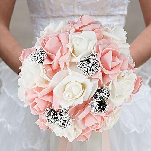 Korean Wedding Flowers: Buy Generic Bride Holding Flower Bouquet Korean Style