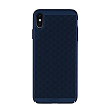 MOFI Honeycomb Texture Breathable PC Shockproof Protective Case for iPhone XS Max (Blue)