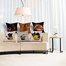 Halloween Soft Pumpkin Pattern Pillowcase Cotton Linen Throw Pillow Cushion Cover Seat Home Decora