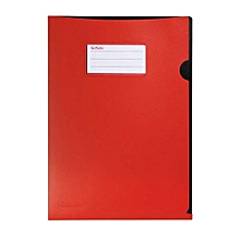 Herlitz - A4 Plastic Document Protector - Opaque Red