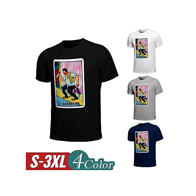 a391d1c2 Fashion Men's Borracho Loteria Funny Drinking Shirt(Color:Borracho ...