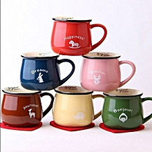 Creative Lovely Large Breakfast Cups Colorful Ceramic Milk Cups