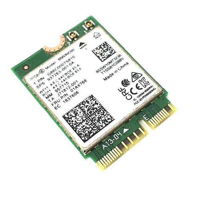 New Dual-Band Wireless AC 9560 for Intel 9560ngw 802 11ac NGFF 2 4G / 5G  2x2 Wi-Fi Card Bluetooth 5 0 NGFF /M 2(9560NGW ANTENNAS)